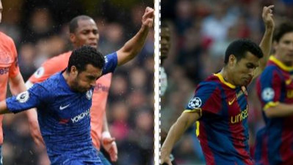 Pedro versiona con el Chelsea un gol inolvidable que marcó con el Barça